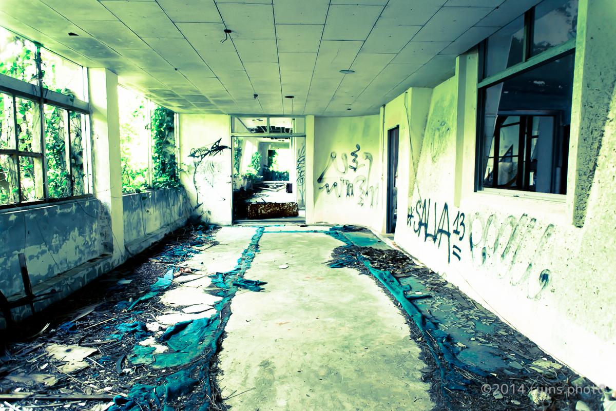 沖縄県中城高原ホテル廊下