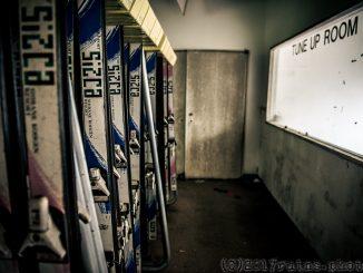 草津シズカ山スキー場-レンタルスキー板置き場