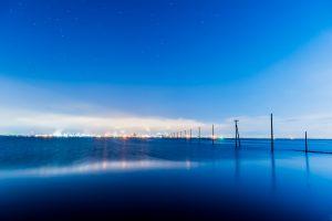 工場夜景と電柱の並びが美しいフォトジェニックポイント!:江川海岸(千葉県木更津市)