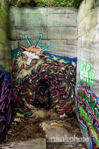 焼肉要塞とも呼ばれる未完成廃墟:ブロックアート(神奈川県真鶴町)