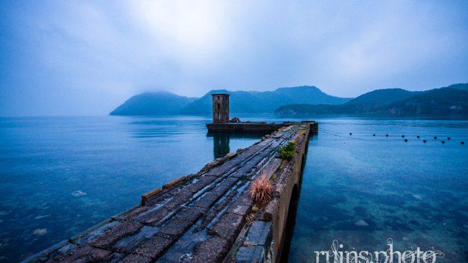 片島魚雷発射試験場:射場上屋の遠景